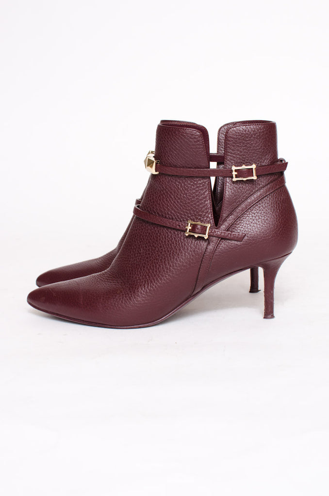 RUBIN BURDUNGY ANKLE BOOTIES