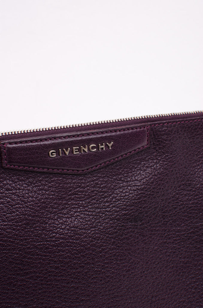 ANTIGONA PURPLE CLUTCH