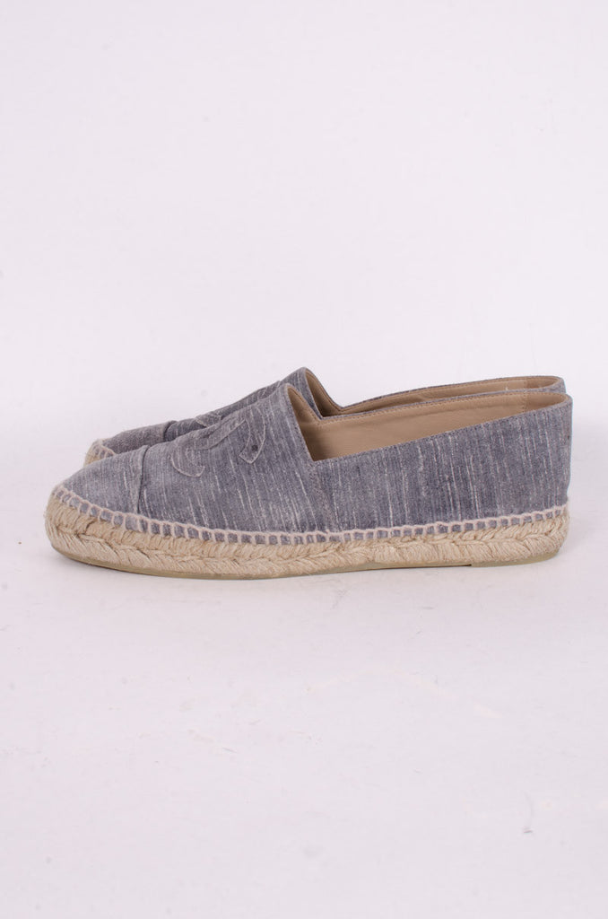 STRIATED SUEDE ESPADRILLES