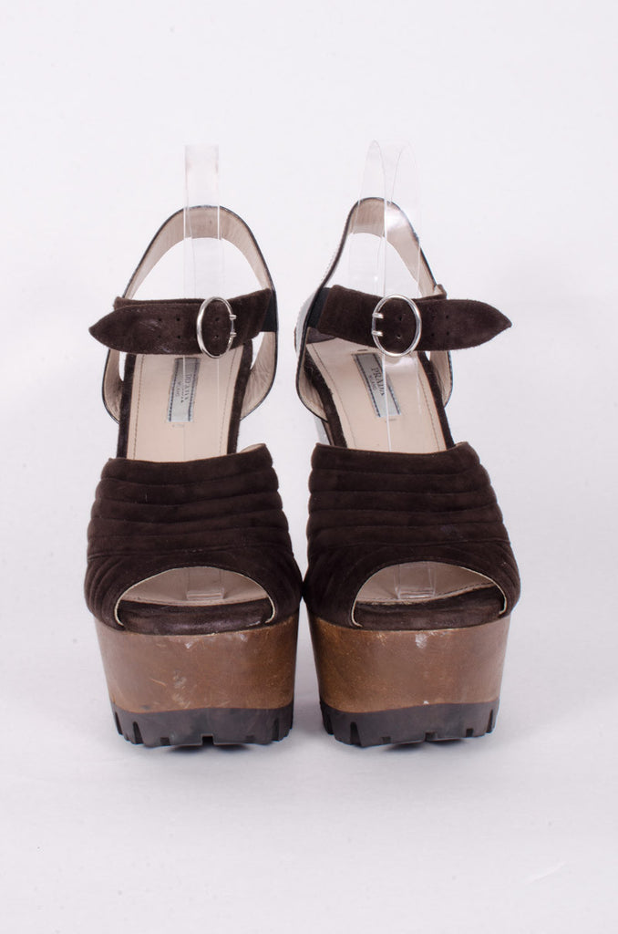 SUEDE WOODEN PLATFORMS