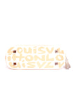 PEACH AND WHITE GRAFFITI PURSE
