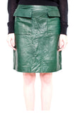 FOREST GREEN LEATHER SKIRT