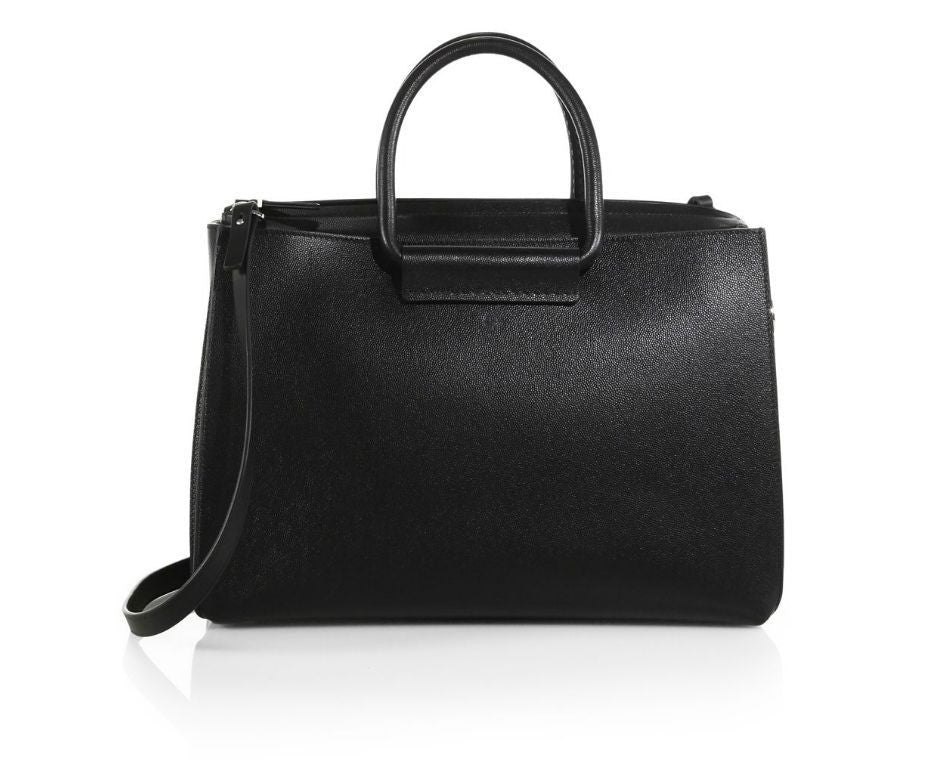 TOP 5 PEBBLED SATCHEL WITH TAGS