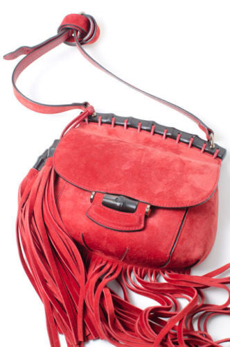 RED NOUVEAU FRINGE PURSE