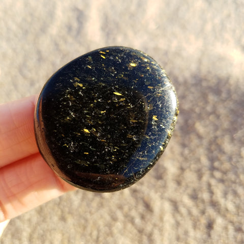 Nuummite Night Sky Pocket Stone #18182