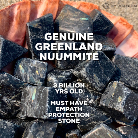 Genuine Greenland Nuummite Protection Crystal