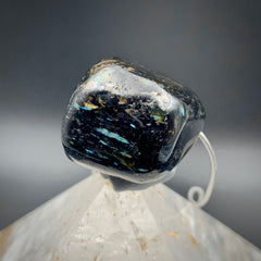 Jumbo Rare Blue Genuine Nuummite Necklace