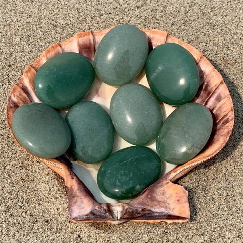 Aventurine Palm Stone for Growth and Abundance