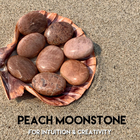 Chai Moonstone Palm Stone for Creative Inspiration