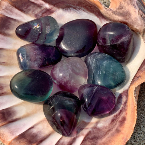 Rainbow Fluorite Tumbled Stone for Clarity