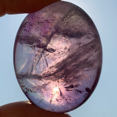 Amethyst Palm Stone for Intuitive Protection
