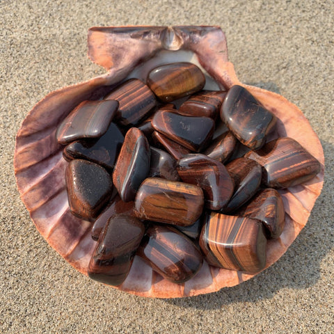 Red Tiger Eye Large Tumbled Stone