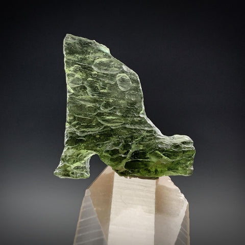 Moldavite High Heel Boot Unique Genuine Tektite