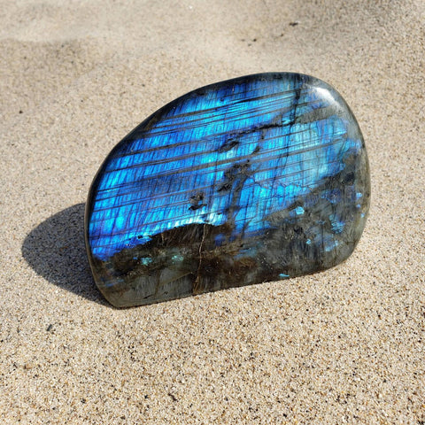 Labradorite Blue Flash Large Display Crystal