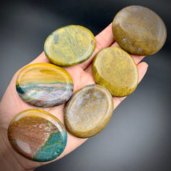 Ocean Jasper Palm Stone for Manifestation