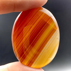 Premium Carnelian Palm Stone for Endurance