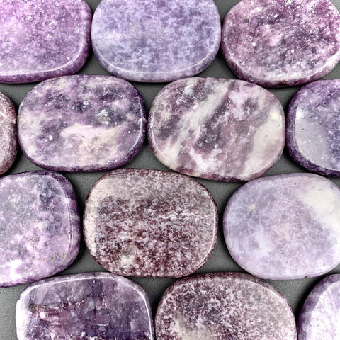 Lepidolite Palm Stone for Dream Recall