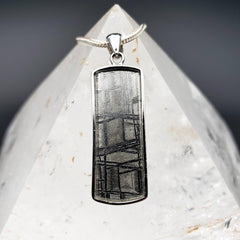 Gibeon Meteorite Dog Tag Shield Pendant