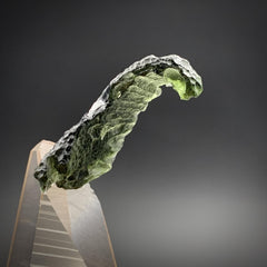 Moldavite Natural Surfer Wave Shape Genuine Tektite