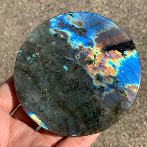 Labradorite Rainbow Flashy Crystal Coaster