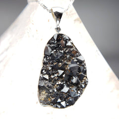 Magnetite Raw Crystal Cluster Pendant