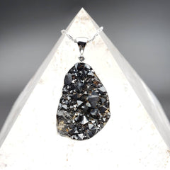 Magnetite Raw Crystal Statement Pendant