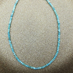 Larimar Rondelle 130 Beads 4-6mm