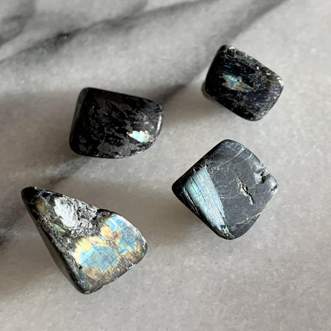 Greenland Nuummite Blue Flash Set