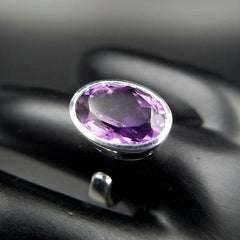 Amethyst Solitaire Adjustable Ring