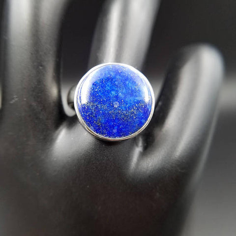 Lapis Lazuli Blue Moon Adjustable Ring