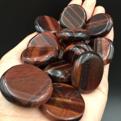 Red Tiger Eye Thumb Stone