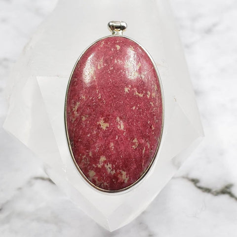 Thulite Pink Zoisite Pendant