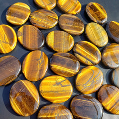 "Tiger Eye 2"" Palm Stone"