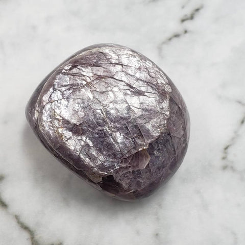 Gem Lepidolite Tumbled Pocket Stone