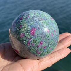Ruby Kyanite Fuchsite Tri-Color Large Sphere
