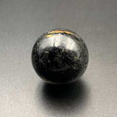 Authentic Greenland Nuummite Crystal Sphere