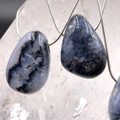 Magical Merlinite Pendant and Chain Necklace
