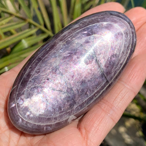 Gem Lepidolite Luminous Palm Stone