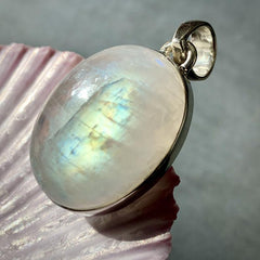 Moonstone Crystal Pendant Flashy Statement Necklace