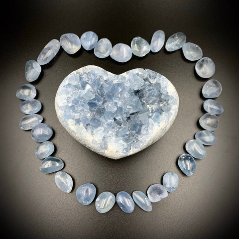 Celestite Tumbled Crystal for Divine Connection