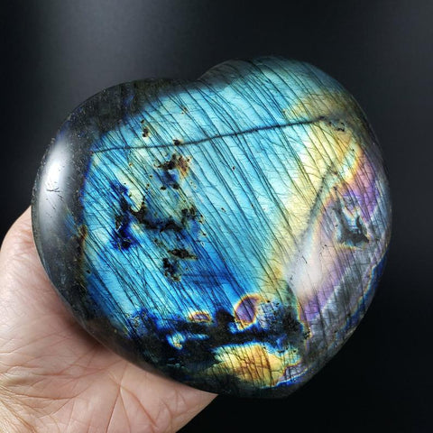 Rainbow Labradorite Large Heart Home Decor Crystal