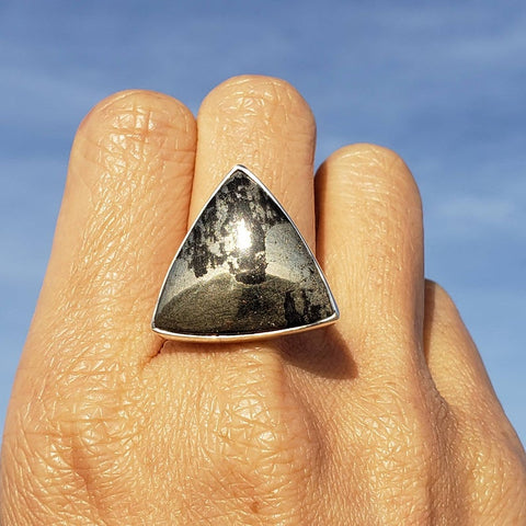Apache Gold Trinity Silver Ring