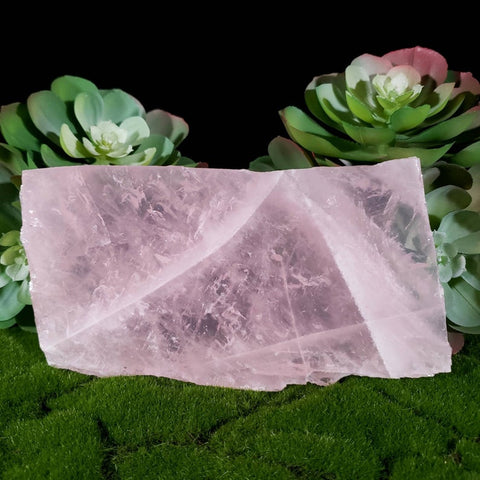 Rose Quartz Charging Slab & Jewelry Tray
