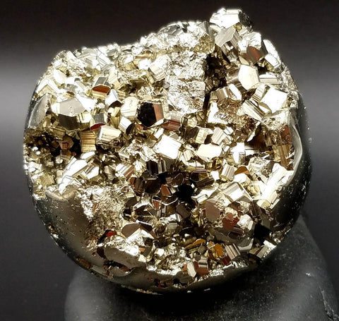 "Pyrite and Quartz Sphere 2.8"" Collector Geode"