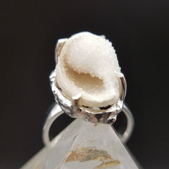 Spiralite Crystal Seashell Ring Size 9