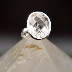 Quartz Crystal Statement Ring - Size 6