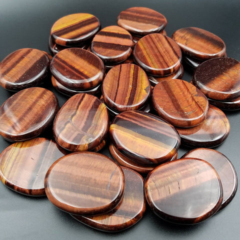 Red Tiger Eye Palm Stone