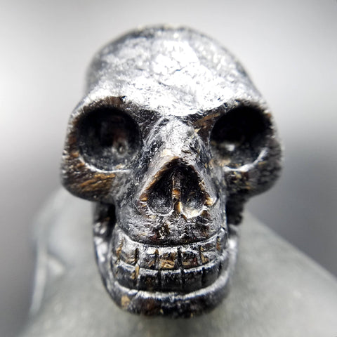 Genuine Nuummite Crystal Skull