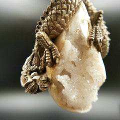 Water Dragon Crystallized Seashell Pendant