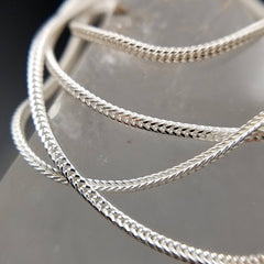 "Foxtail Silver Chain 20"" Box Weave"